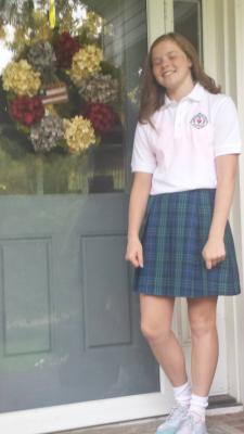 Lolo's 1st day of 8th grade